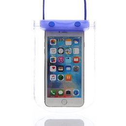 Wholesale Wholesale Used Bags Brands - Waterproof Phone Pouch High Quality Big Mobile Bag with Night light for Sport Use Free Shipping