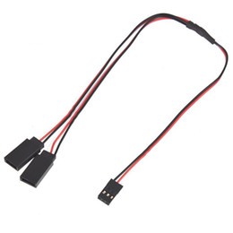 Wholesale Futaba Cable - Wholesale-300MM 30CM Y Type Extended Line Y Extension Lead Wire Cable for Futaba JR remote control qouacopter Free Shipping