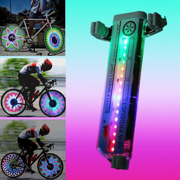 Wholesale Led Bike Light Wheel - New 32 LED Motorcycle Cycling Bicycle Bike Wheel Signal Tire Spoke Light 20KM H Speed Cycling Bycicle Accessories Light