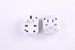 Wholesale Ce Uk Plug Adaptor - Universal US UK EU Converter Adaptor 6A CE certification ac electrical Power International travel Adapter plug