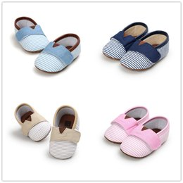 Wholesale Cute Soles - Autumn New arrival Baby loafers infants striped soft sole first walker shoes boys girls cute anti-slip moccasins prewalker for 0-1T