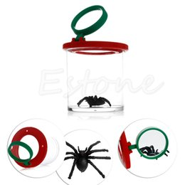 toy bugs insects Promo Codes - Wholesale-Bug Box Magnify Insects Viewer 2 Lens 4x Magnification Childs Toy Entomologists
