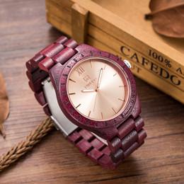 Wholesale Movement Miyota - Luxury UWOOD Brand Natural Purple Heart Wooden Watch For Men Janpan MIYOTA Movement Wood Watches Dress Wristwatch Gift