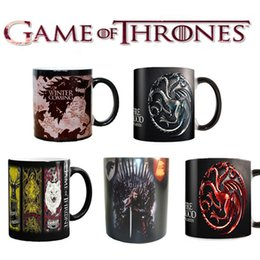 Wholesale Ceramic Color Changing Mug - 5 Style Game Of Thrones Mugs Magic Color Changing Tea Coffee Cups Ceramic Milk Cups
