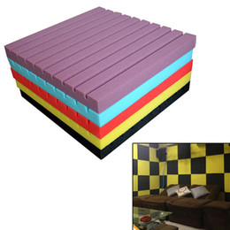 Wholesale Soundproofing Foam Wholesale - Wholesale- New High-density Soundproof Wedge Tile Acoustic Foam Sound Absorption Panel HOT