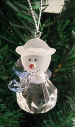 Wholesale Diamond Drops Decorations - New brand LED hang snowflake decoration christmas festive ornaments acrylic fascinating snowman diamonds design drop shipping low price