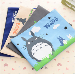 Wholesale Cute A4 Files - Wholesale-Cute Totoro A4 File Bag Document Bag File Folder Stationery Filing Production School Office Supply