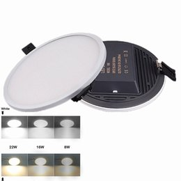 Wholesale Led Downlights Surface Mounted - Integrate 8W 16W 22W 30W Led Lights Panel Lamp CRI>85 SMD 4014 High Quality Led Recessed Downlights Kitchen Bathroom