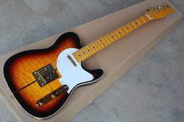 Wholesale tele custom - Hot Sale Custom Shop Merle Haggard Signature Tuff Dog Tele Sunburst Electric Guitar Golden Hardware free shipping