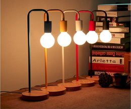Wholesale Wholesale Metal Table Lamps - 2016 new arrivals creative Nordic Brief colorful Personality Modern Desk Lamp Bedroom Study Table Lights AC85-265V LED desk light