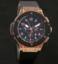 Wholesale Band Bang - 2017 new Fashion genve big bang men's rubber band watch luxury watch Wristwatches Brand 3 colors.