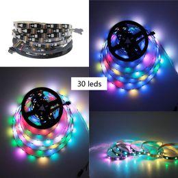 Wholesale ws2812b led strip - 5V WS2812B 5050 RGB LED Strip 5M 150 Leds 30LED M Individual Addressable, colorful led strips