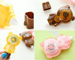 Wholesale Cute Tapes - Wholesale-4piece lot Cute Animal Correction Tape Kawaii Material Escolar Korean Stationery School Supplies Papelaria Free Shipping