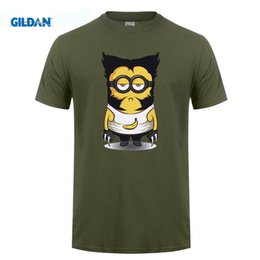 Wholesale Despicable T Shirts - Wolve Despicable Me Minion Tshirts 2017 Print T shirt Anime Hip Hop Short Sleeve T-shirt O-neck Men Tops