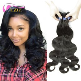 peru hair Promo Codes - Full Cuticle Wholesale Price Body Wave Peruvian Hair Extension From Peru 3 Bundles DHL Free Shipping
