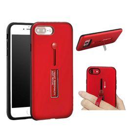 Wholesale Iphone Finger Ring Case - Multifunctional Luxury Hard PC Cell Phone Case Finger Ring Stand Case For iPhone 7 7Plus 6 6S Plus S7 S8 S8 Plus Back Cover Phone Holder
