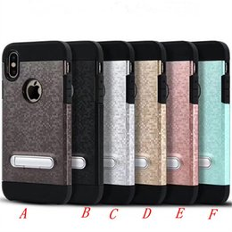 Wholesale Heavy Bag Cover - Mosaic pattern armor Case For iphone x 8 plus For Samsung note 8 Dual Layer Protective Shockproof Heavy Back cover opp bags C