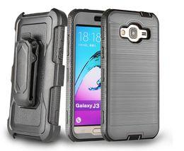 Wholesale Heavy Metal Belts - Heavy Duty Metal Drawing Hard Case For ZTE Z Max pro 2  Motorola Moto E4 Phone Case + Belt Clip Holster Kickstand With Resist Film
