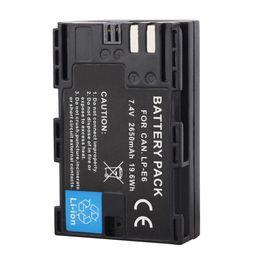 Wholesale Battery Eos - New LP-E6 2650mAh 7.2V Digital Replacement Camera Battery For Canon EOS 5D Mark II 2 III 3 6D 7D 60D 60Da 70D