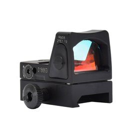 Wholesale Tactical Rifle Scopes Trijicon - 2017 New Red Dot Sight Scope Tactical Adjustable Sightscope With Trijicon Style Mini-mirror for Rifle Scope picatinny rail Riflescopes