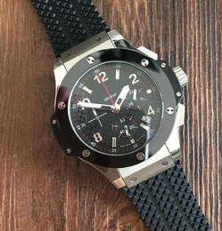 Wholesale Rubber Strap Wristwatch - Famous Brand Rubber Strap Sport Men's Watches big bang High Quality silver steel Bezel Fashion QUARTZ Wristwatches