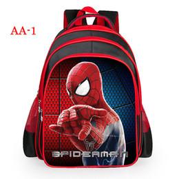 Wholesale Spiderman Kids Bags - 3D Printing Kids Bags Children Backpack Spiderman Boy Schoolbag Children Quality School Student Backpack For Kids
