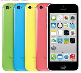 Wholesale 5c Cell - Original Apple iPhone 5C Dual Core iOS 1G RAM 16G 32GROM iphone5c 8MPCamera WIFI GPS Cell Phone The original refurbished phone