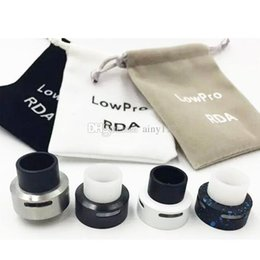 Wholesale Smallest Atomizer - The Smallest Dripper LowPro RDA Atomizers LowPro Dripper RDA clone with 10mm tall 22mm diameter 3.5mm deep juice well great price DHL FREE