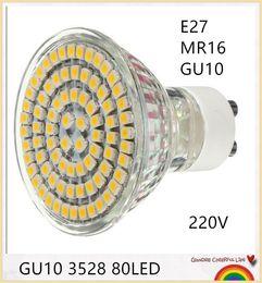 Livraison gratuite 10 PCS GU10 E27 MR16 6 W LED Ampoule Projecteur 3528 SMD 80 LED 220-240V LED0255 ? partir de fabricateur