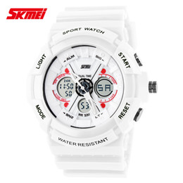Wholesale Ladies Dive - Shock Digital Analog Watches Men Women LED Electronic Day 50m Dive Army G type Sport Watch Relogio Masculino Feminino Lady White