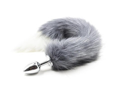 Wholesale Tails Fox Sex - Fox Tail Butt Plug Stainless Steel High Quality Artificial Hair Anal Plug Sex Toys Adult Games Halloween Sex Products