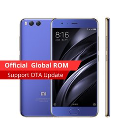 Wholesale Qualcomm Mobile Phones - Original Xiaomi Mi6 Mi 6 Mobile phone 6GB RAM 128GB ROM Snapdragon 835 Octa Core 5.15'' tablet NFC 1920x1080 DualCameras Android 7.1 OS