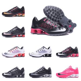 Wholesale Shox Brand Shoes - Hot Brand Shox Deliver NZ 808 Mens Running Shoes Cheap Fashion Sneakers Shox Current Black Red Man Runs Sport Shoxes Shoes trainers Boosts