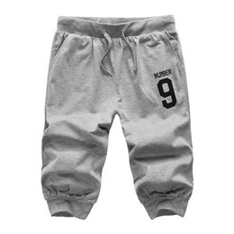 Wholesale Fashion Foot Wear - Wholesale-2016New Arrival Summer Ventilate Comfort MenPants Little feet pantsKnee Length Casual Wear Fashion Hot Sell