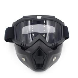 Canada Airsoft Paintball Tir Équipement Protection Du Visage Vitesse Full Face Tactique PC Lens Tactique Moto Masque NO03-309 Offre