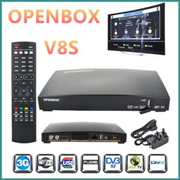 Wholesale Satellite Receiver Usb Pvr - OPENBOX V8S Smart Digital HD Freesat PVR Satellite TV Receiver Box Dual CPU With 2*USB Slot WIFI 3G Youporn CCCAMD NEWCAMD