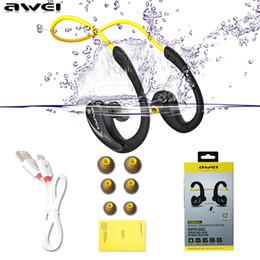 Wholesale Wireless Pc Headset Mic Stereo - Awei A880BL Bluetooth Earphone Wireless Earphones and Headphone with mic Sport Stereo Headset for Smart phone 6 6s 7 7plus for PC
