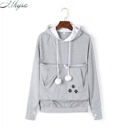Argentina Venta al por mayor- 2017 Nueva caricatura Hooded Hoodies Lover Cats Kangaroo Dog Hoodie Sudadera de manga larga bolsillo delantero Casual Animal Ear Hoodie 020 supplier hoodies ears Suministro