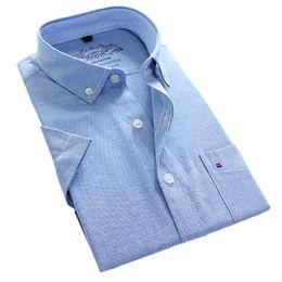 Wholesale Men S Linen Dress Shirts - Wholesale-Chemise Carreaux Pure Color White Business Formal Dress Shirts Men Fashion Short Sleeve Social Shirt Size 5XL Vetement Homme