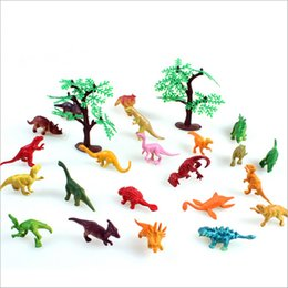 Wholesale Action Rooms - Kids Puzzle Toy!! 24pcs lot Static Simulation Dinosaur Mini Action Figure Toys Baby Room Decoration Kids Birthday Gifts