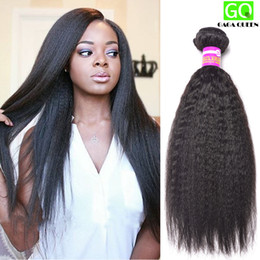 Wholesale Remy Human Hair Yaki Color - Wholesale Price Human Hair Extension 8A Brazilian Kinky Straight Weft Unprocessed Virgin Remy Hair Natural Color Yaki Straight Hair Weave