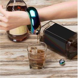 set matraz de alta calidad Rebajas Brazalete Brazalete Cadera Frasco Plata Arco iris Oro Oro Acero inoxidable Whisky de alta calidad para bebidas y juego de embudo