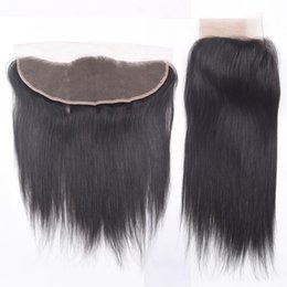 """Wholesale Machining Parts Products - 8A Pervuvian Hair Lace Frontal Closure 13x4"""" Free Part Malaysian Brazilian Indian Straight Hair 8-20"""" Bellqueen Hair Factory Products 1pcs"""