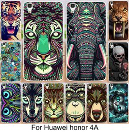 Wholesale Owl Back - Animals Lion Wolf Owl Pattern Hard Back Phone Case For HUAWEI P9 P8 honour 7 MATE 8 Glow In Dark Luminous Forest King