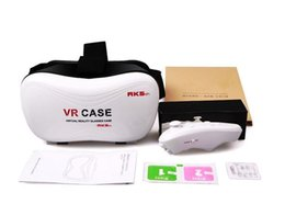 Wholesale Mobile Case Shipping Box - New Cheap VR-BOX VR case With Gamepad 3D virtual realuty glasses mobile home theater 2016 VR Glasses Google Cardboard DHL Fast Shipping