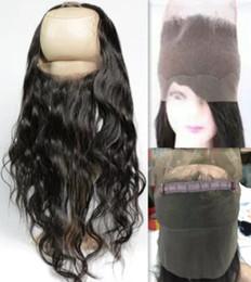 2019 color de pelo para los asiáticos Pre despluma Frontal onda suelta 360 del cordón del pelo de la Virgen Natural Hairline 360 Frontal del cordón del vendaje del cordón Frontal envío gratis
