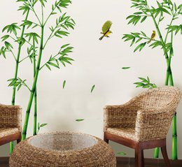 Wholesale Room Sofa Set - Hot Style Popular TV Setting Wall Room Sitting Room Sofa Decorate Wall Stickers Chinese Wind Stick Bamboo Forest Depths