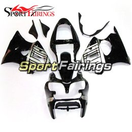 Wholesale Zx6r Silver Black - Fairings For Kawasaki ZX6R ZX-6R Ninja 636 00 01 02 2000 201 2002 Sportbike ABS Injection Motorcycle Fairing Kit Black Silver Bodywork Cover