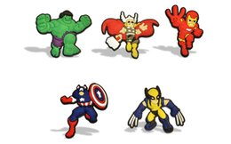 Wholesale Avengers Stickers - 5-12pcs Avengers Super Heroes Cartoon Fridge Magnets Blackboard Magnets Refrigerator Glue Stickers Kid Gifts Party Favors Stickers
