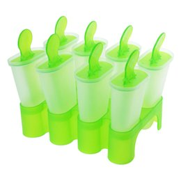 Gelato lolly online-Ostart 8 Cell Frozen Ice Cream Pop Stampo Popsicle Maker Lolly Stampo vassoio Pan Cucina fai da te